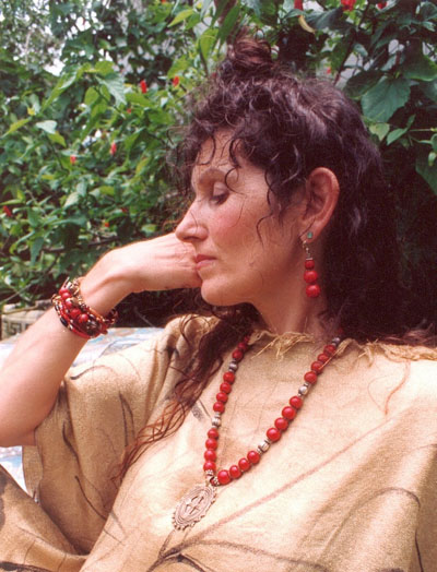 Rachael Clearfield wearing Signature Noel Necklace and Bracelets, Florida 1980's
